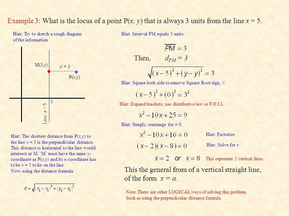 This the general from of a vertical straight line, of the form x = a.