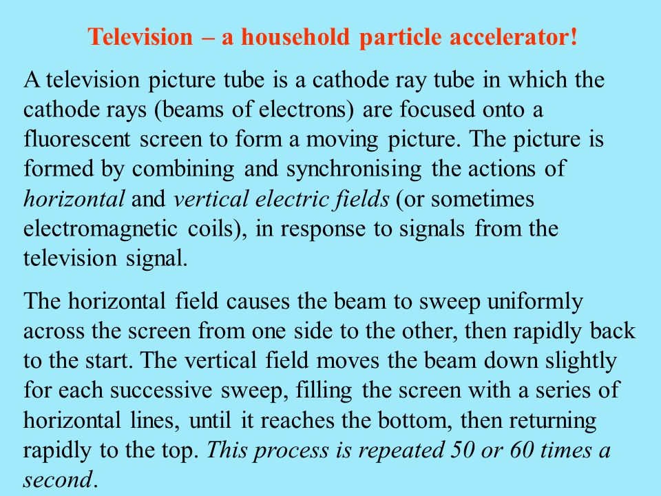 Television – a household particle accelerator!