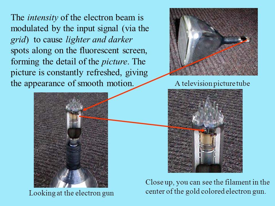 Looking at the electron gun
