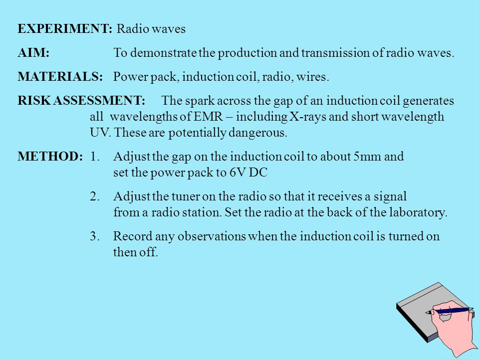 EXPERIMENT: Radio waves