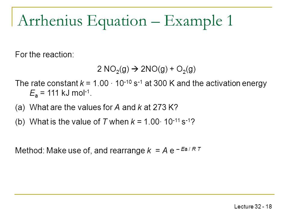 CHEM Pharmacy Week 11: Kinetics – Arrhenius Equation - ppt ...   960 x 720 jpeg 57kB