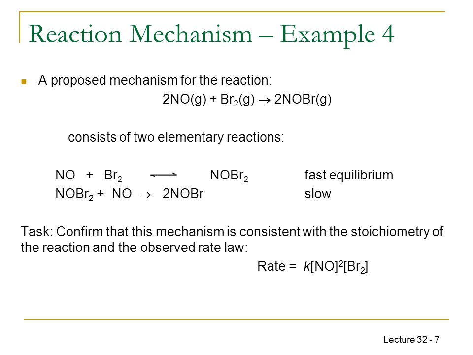 Reaction Mechanism – Example 4