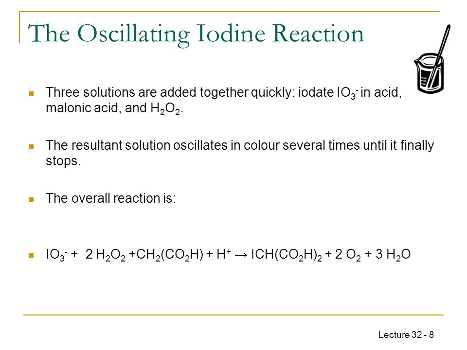 The Oscillating Iodine Reaction