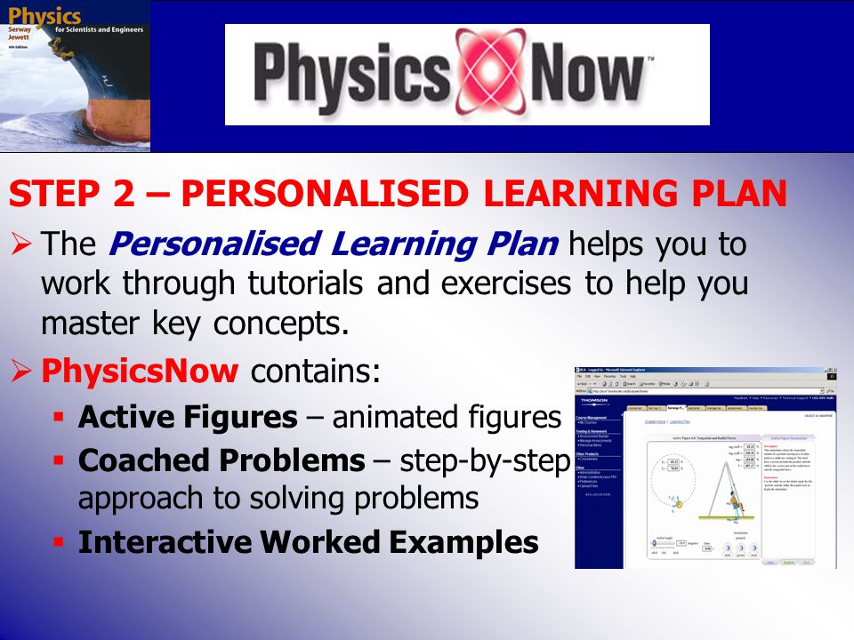 STEP 2 – PERSONALISED LEARNING PLAN