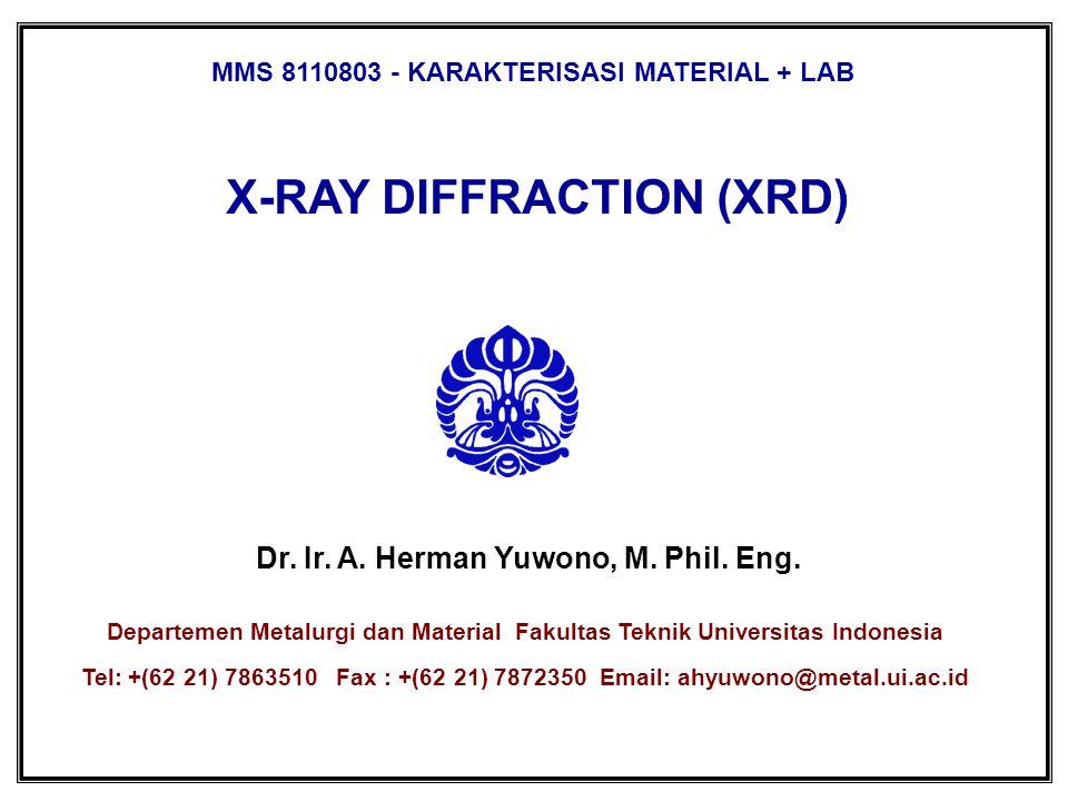 X-RAY DIFFRACTION (XRD)