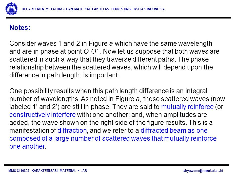 Notes: Consider waves 1 and 2 in Figure a which have the same wavelength.