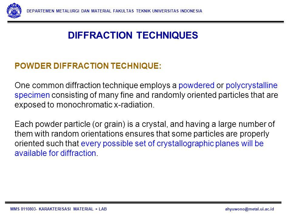DIFFRACTION TECHNIQUES