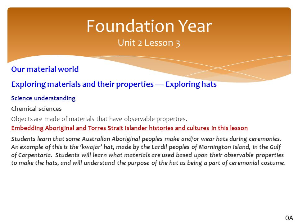 Foundation Year Unit 2 Lesson 3
