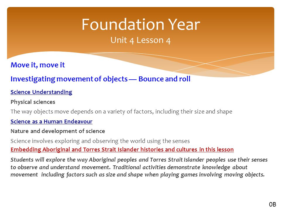 Foundation Year Unit 4 Lesson 4