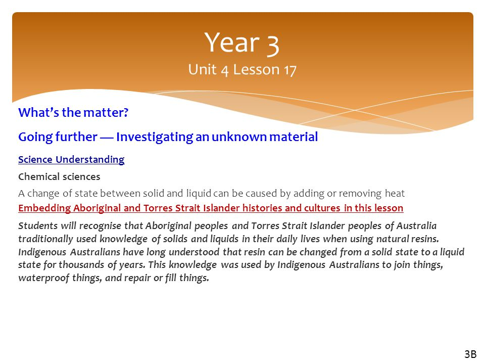 Year 3 Unit 4 Lesson 17 What's the matter