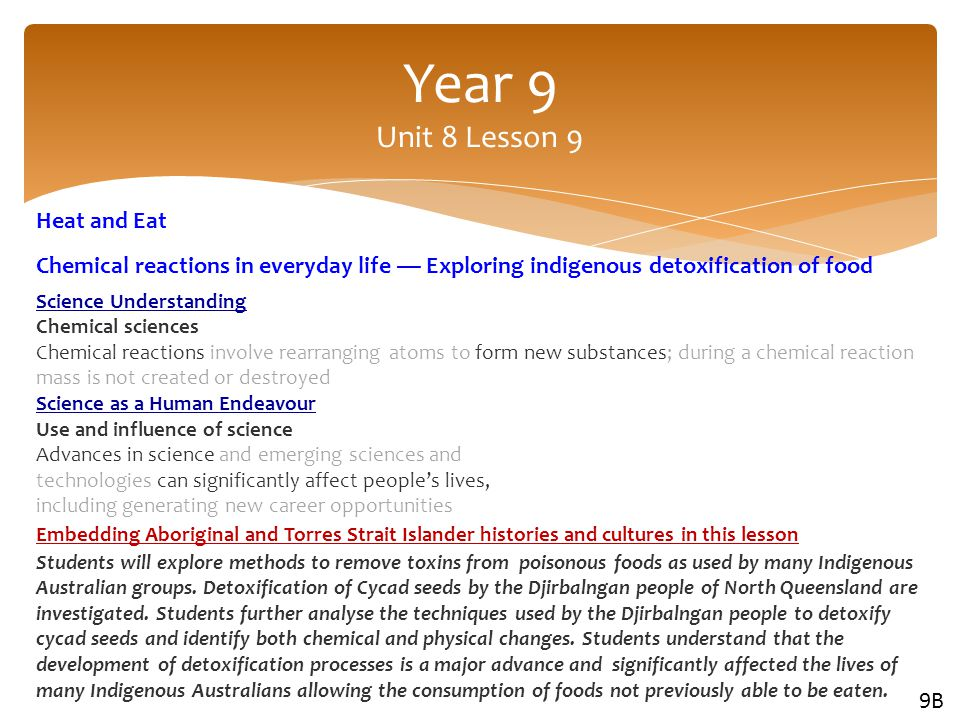 Year 9 Unit 8 Lesson 9 Heat and Eat
