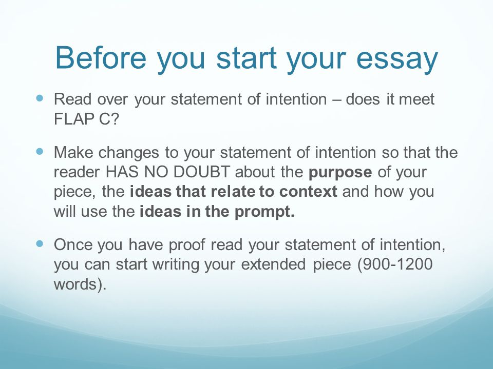 Starting over essay