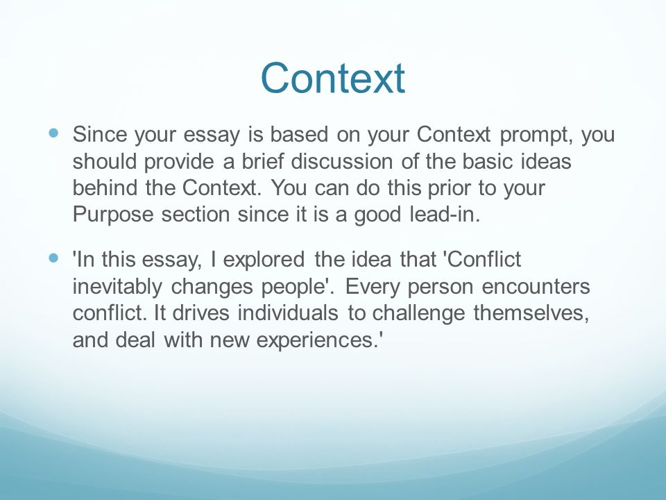 context response essay Essay writing tips for apush this may also be where you put the question into historical context or write any free response essay.
