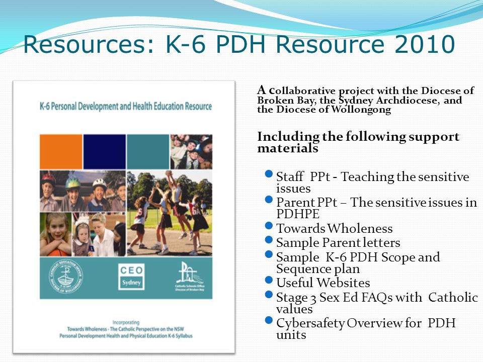 Resources: K-6 PDH Resource 2010