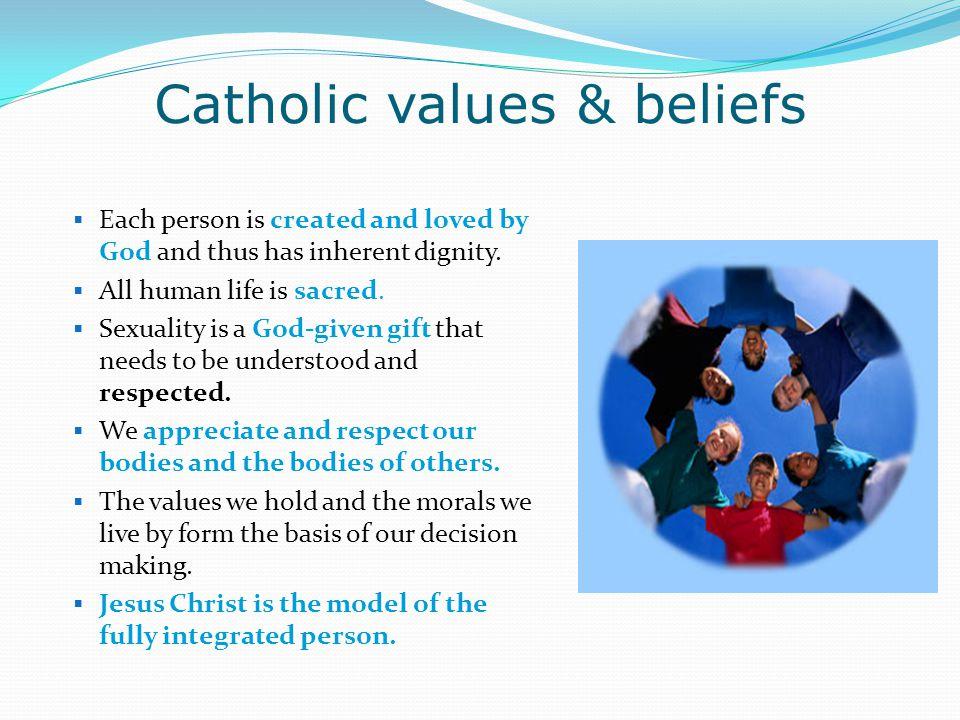 Catholic values & beliefs