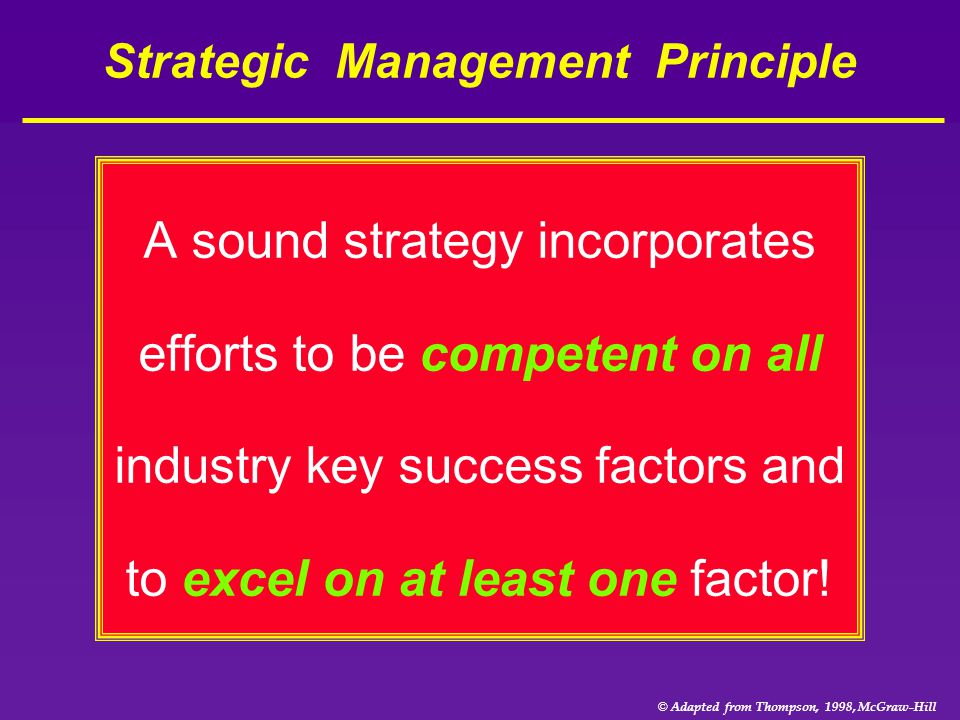 Strategic Management Principle