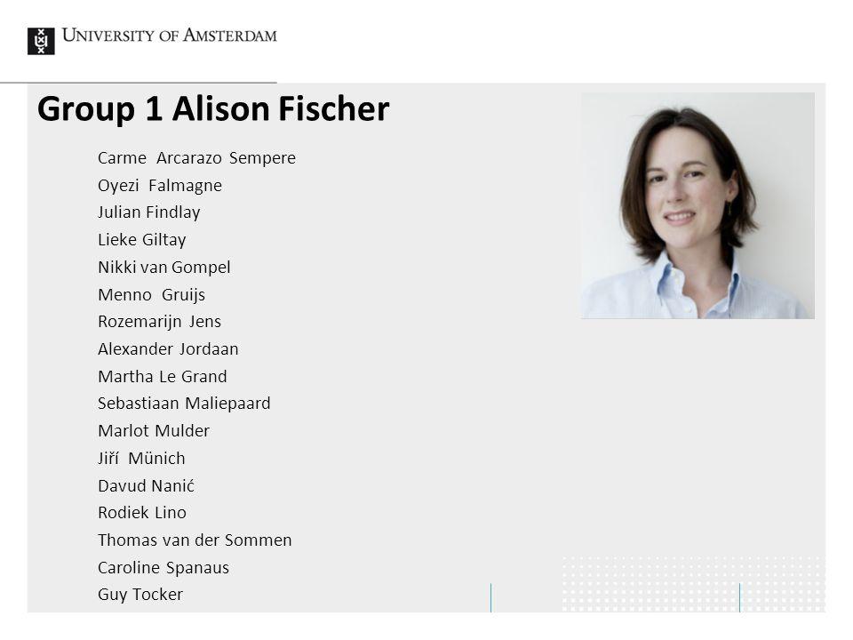 Group 1 Alison Fischer
