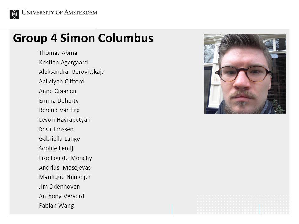 Group 4 Simon Columbus