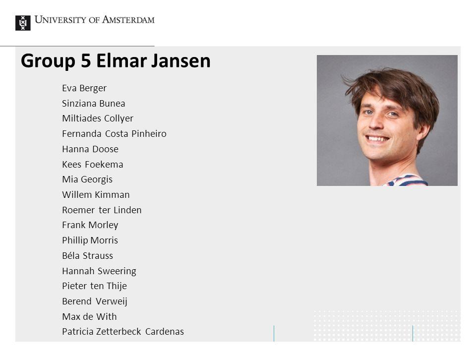 Group 5 Elmar Jansen