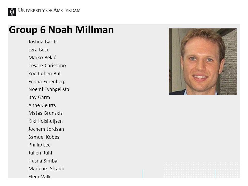 Group 6 Noah Millman