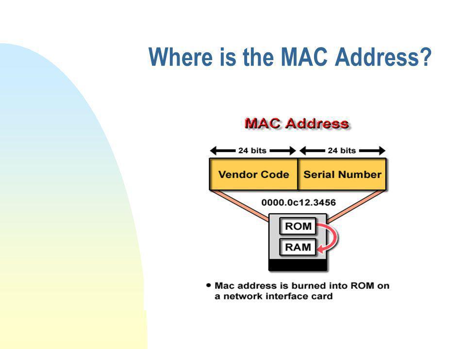 Where is the MAC Address