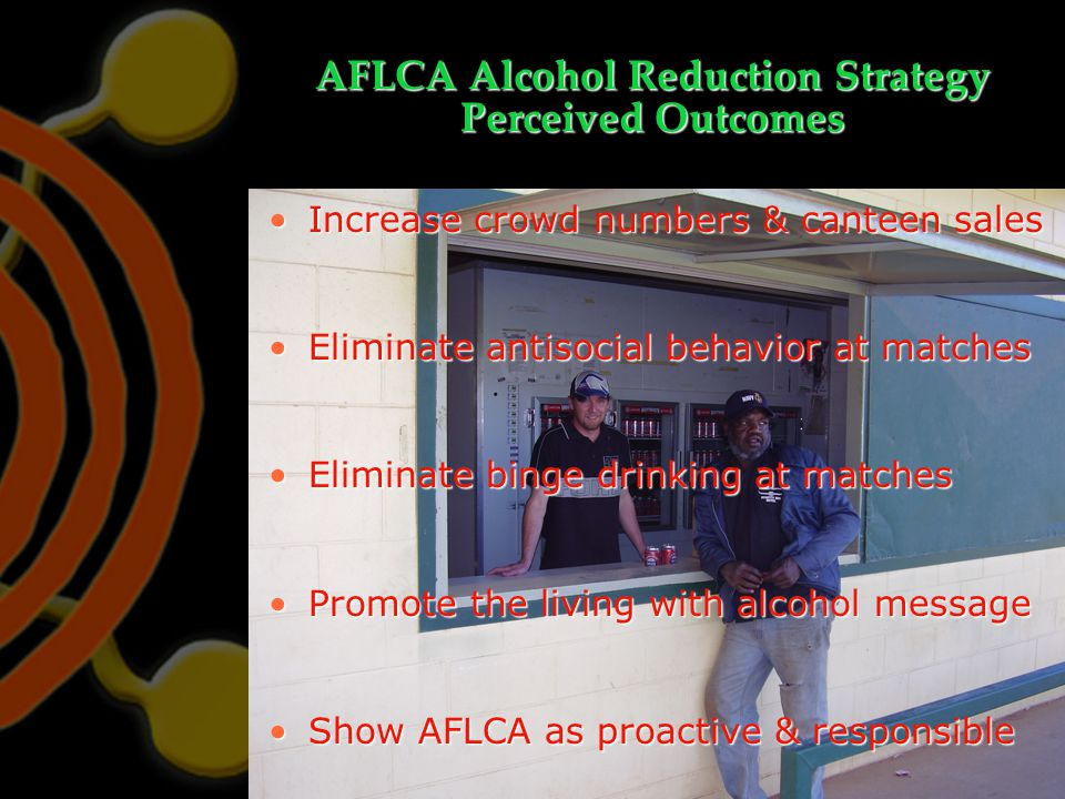 AFLCA Alcohol Reduction Strategy Perceived Outcomes