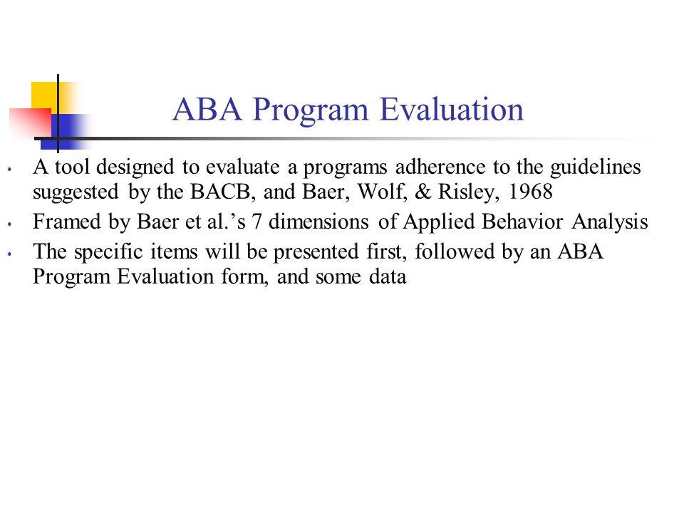ABA Program Evaluation