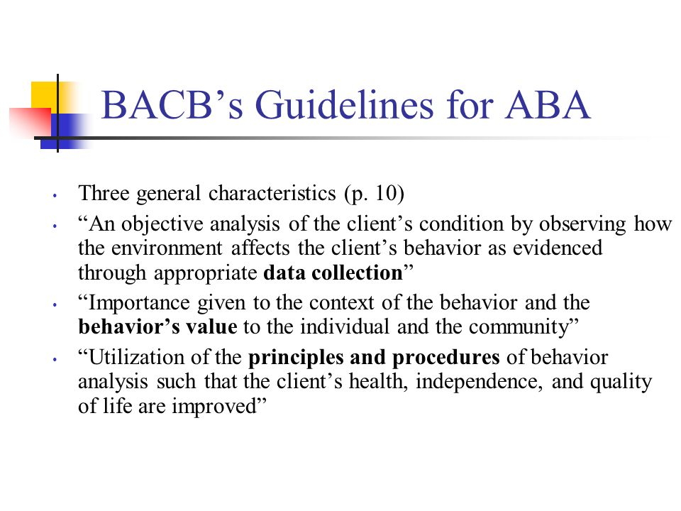 BACB's Guidelines for ABA