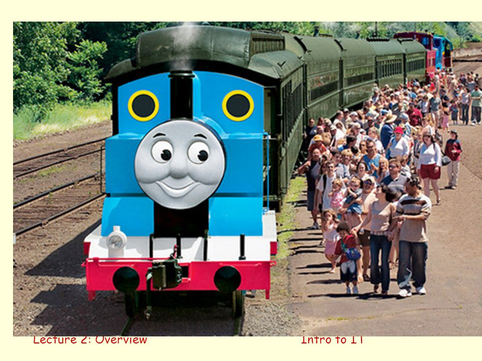 Overview Thomas the Tank Engine Lecture 2: Overview Intro to IT 22