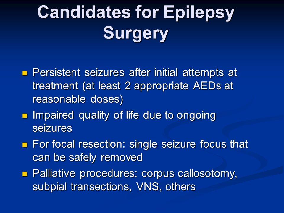 Candidates for Epilepsy Surgery