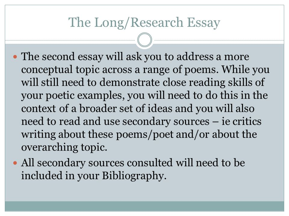 The Long/Research Essay