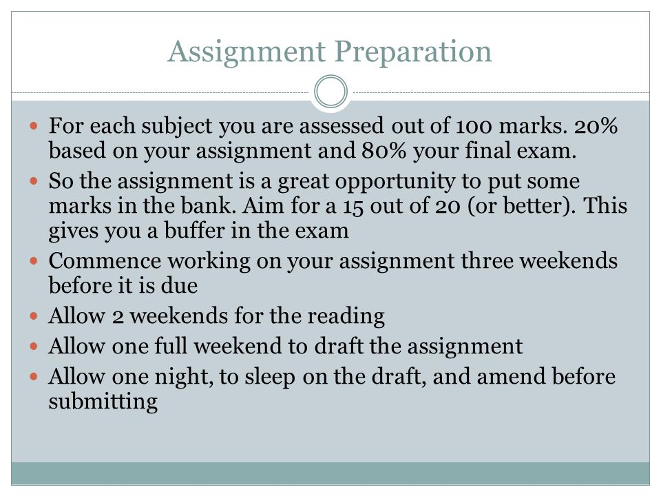 Assignment Preparation