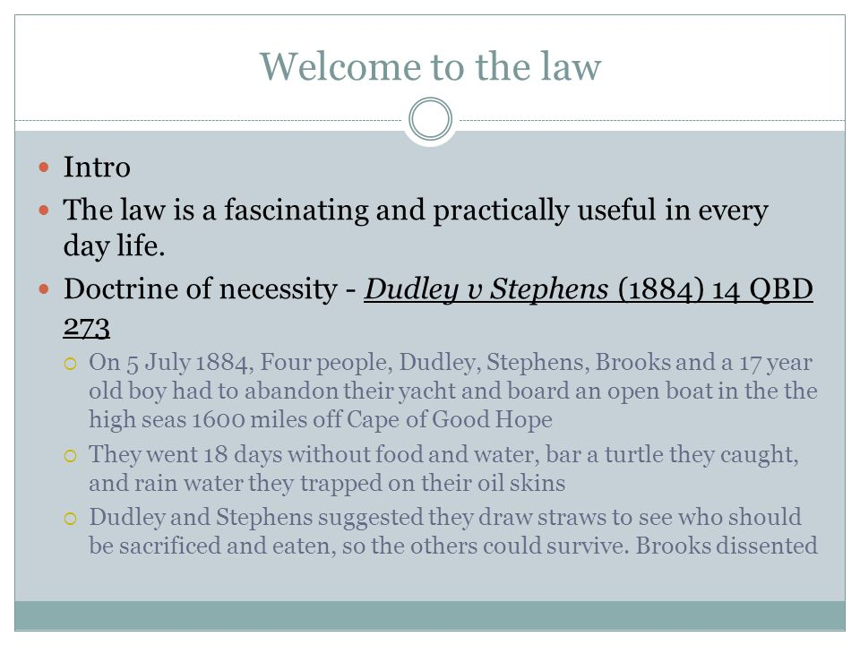 Welcome to the law Intro