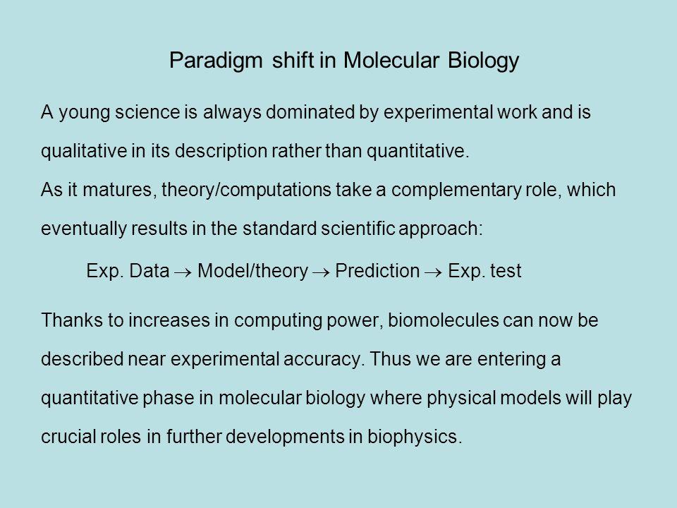 Paradigm shift in Molecular Biology