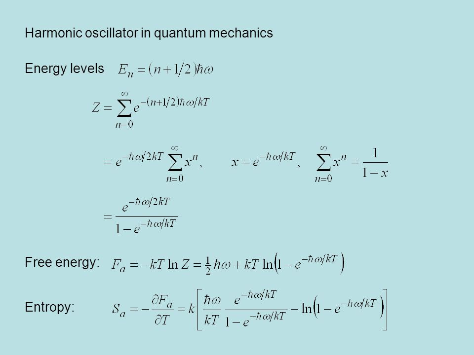 Harmonic oscillator in quantum mechanics