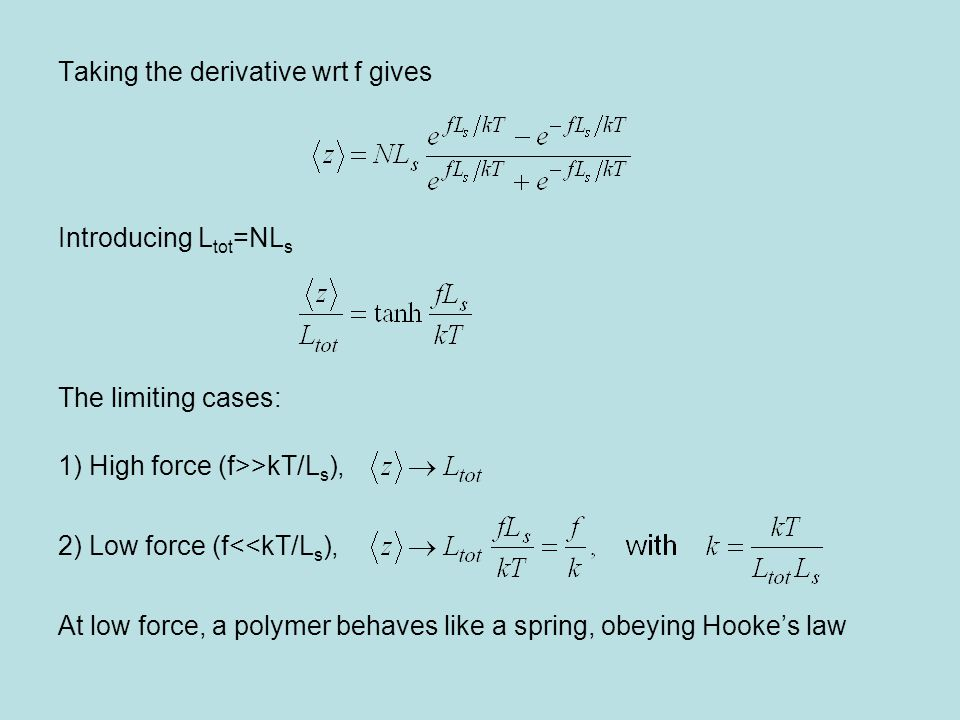 Taking the derivative wrt f gives