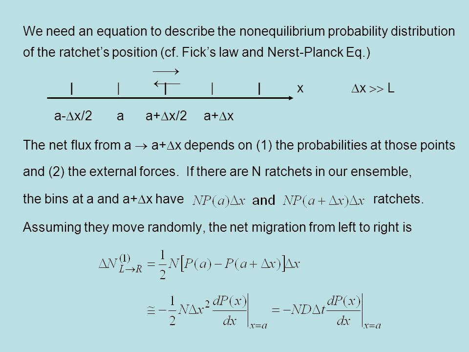 We need an equation to describe the nonequilibrium probability distribution
