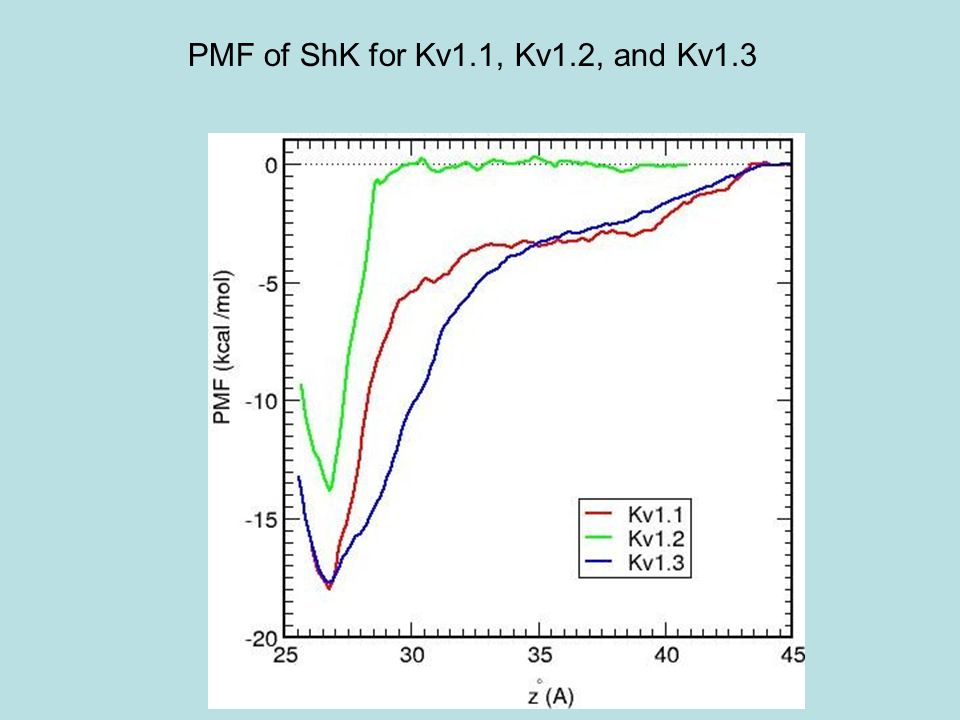 PMF of ShK for Kv1.1, Kv1.2, and Kv1.3