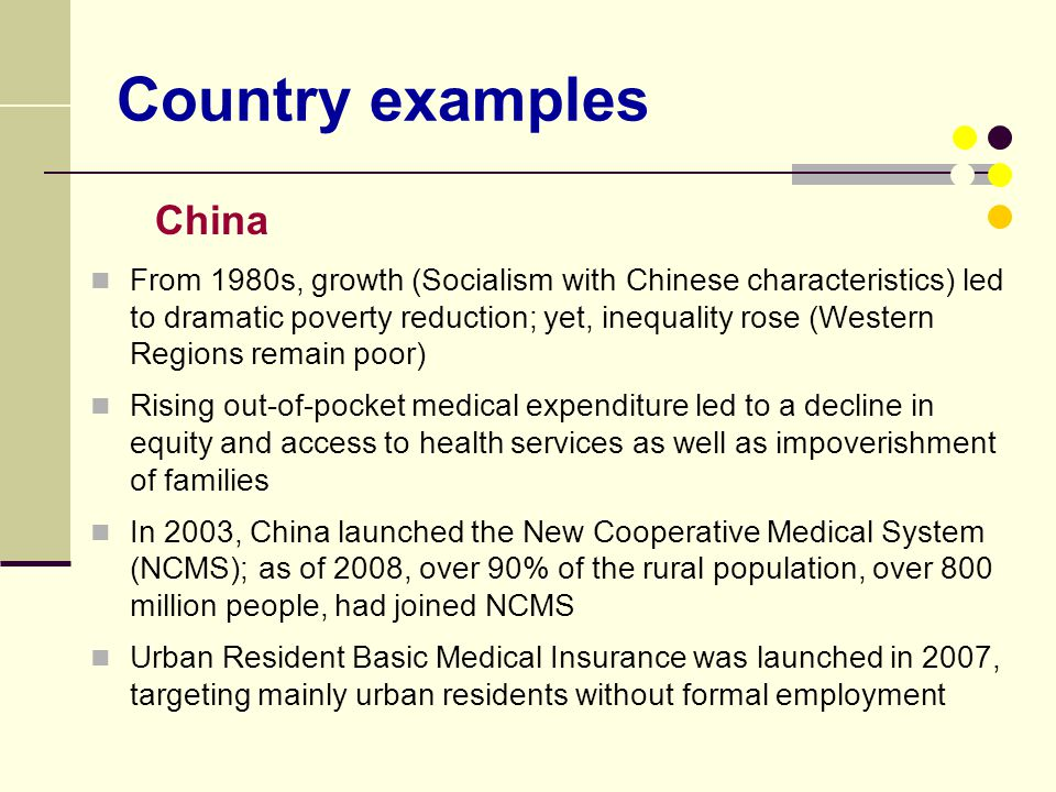 Country examples China.