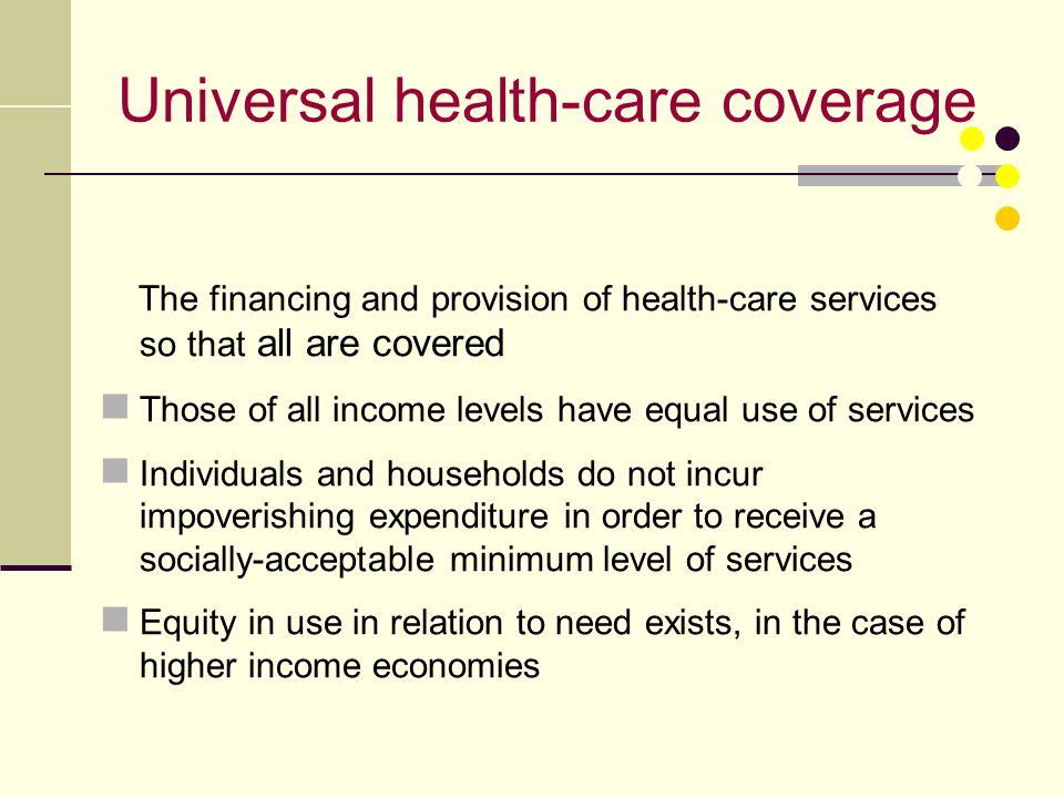 Universal health-care coverage