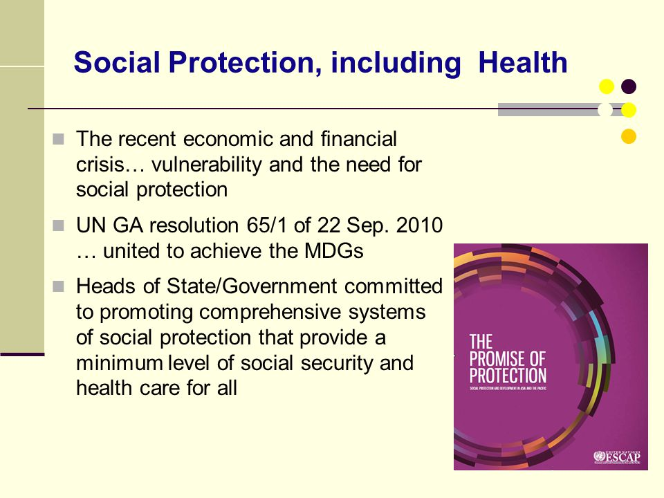 Social Protection, including Health