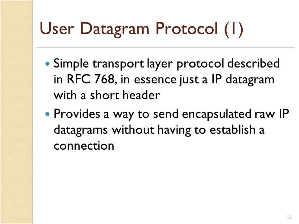 User Datagram Protocol (1)