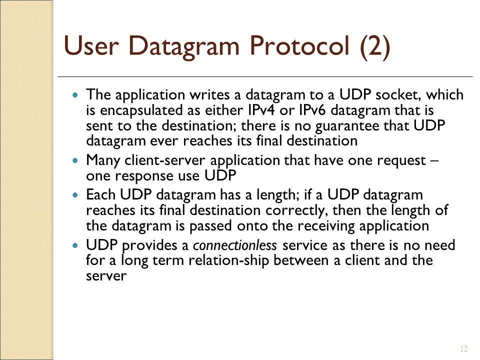 User Datagram Protocol (2)