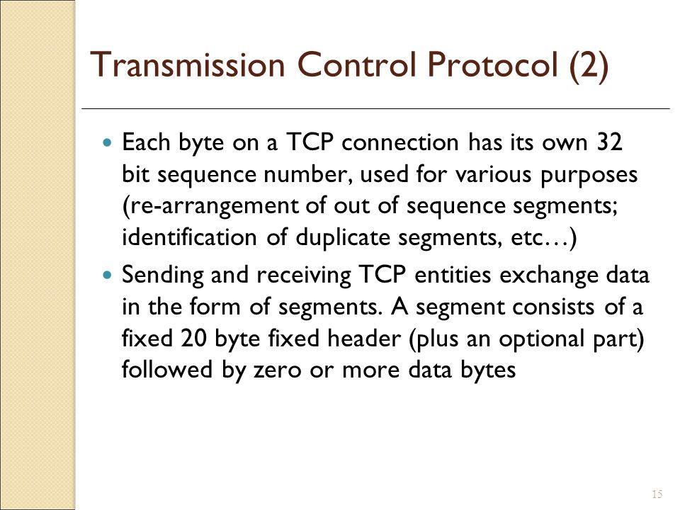 Transmission Control Protocol (2)