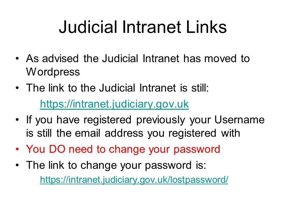 Judicial Intranet Links