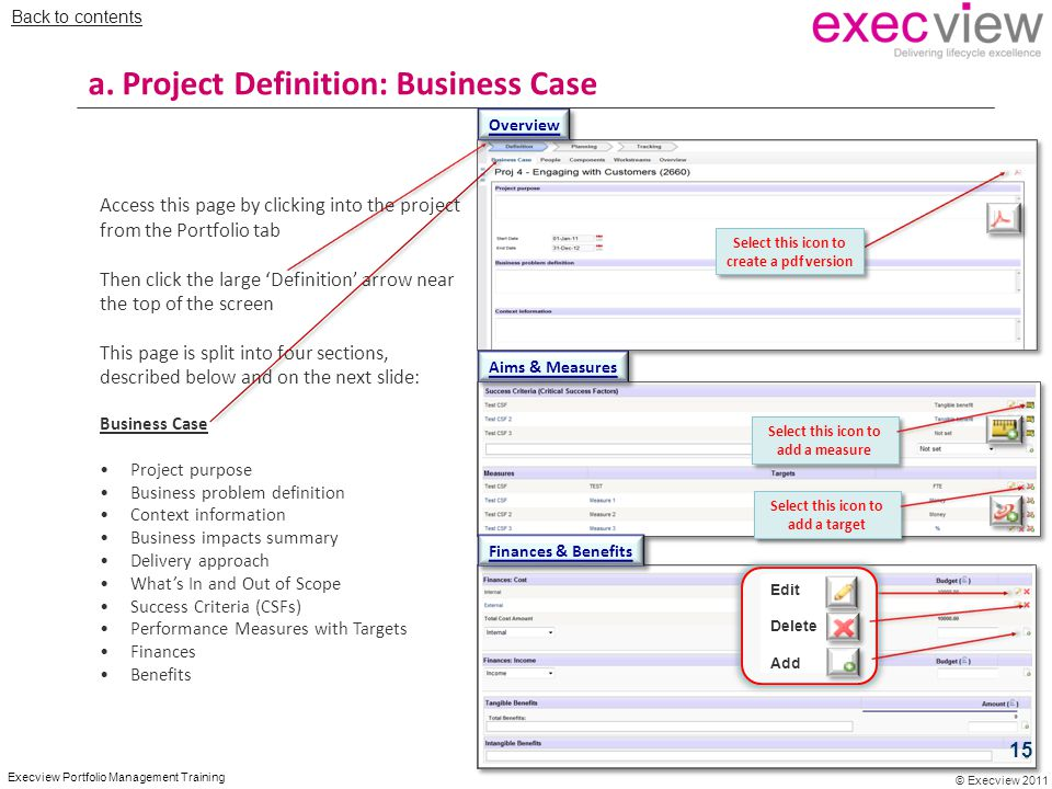 a. Project Definition: Business Case