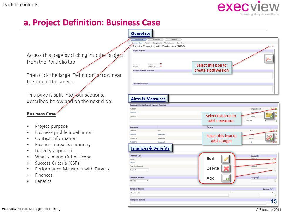 a. Project Definition: Business Case