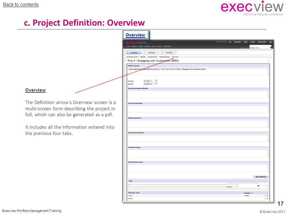 c. Project Definition: Overview