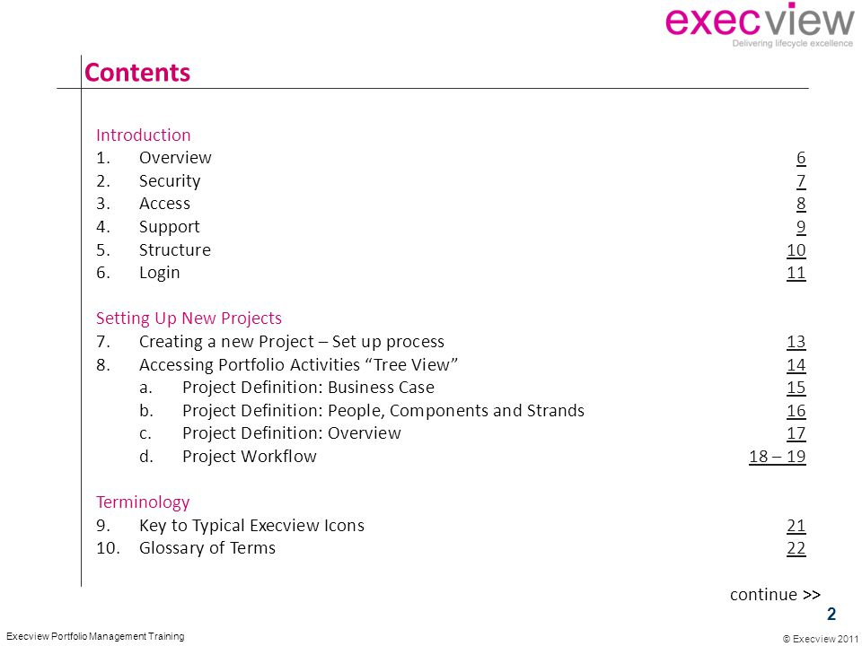 Contents Introduction Overview 6 Security 7 Access 8 Support 9