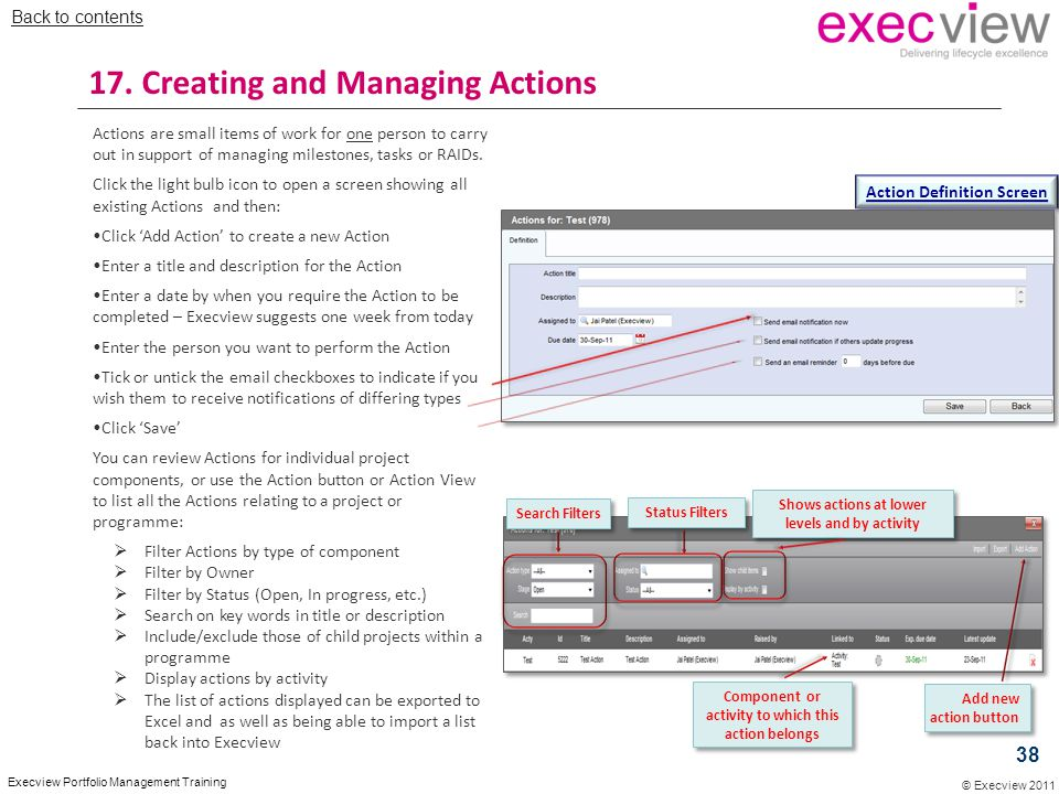 17. Creating and Managing Actions